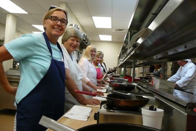 Charlette Roman Volunteering Soup Kitchen