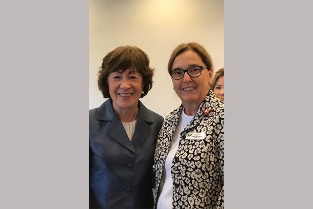 Susan Collins with Charlette Roman