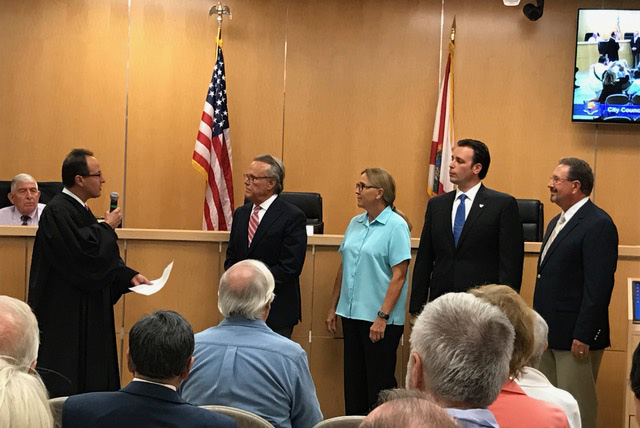 Charlette Roman Swear In Marco City Council