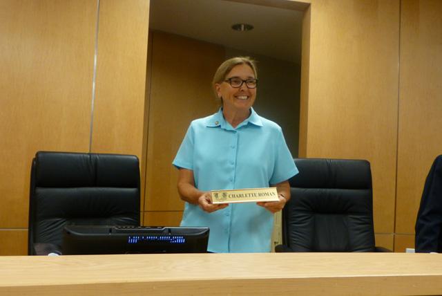 Charlette Roman Swear In Marco City Council