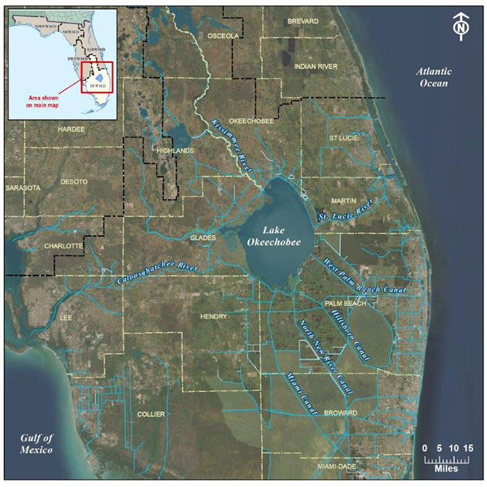 Lake Okeechobee map view